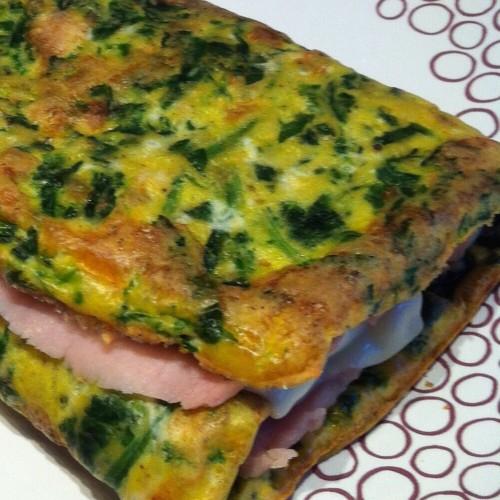 Rolle' di frittata al forno con spinaci