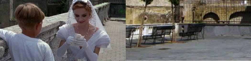 Largo S. Martino prima e dopo.  Fonte: davinotti.com