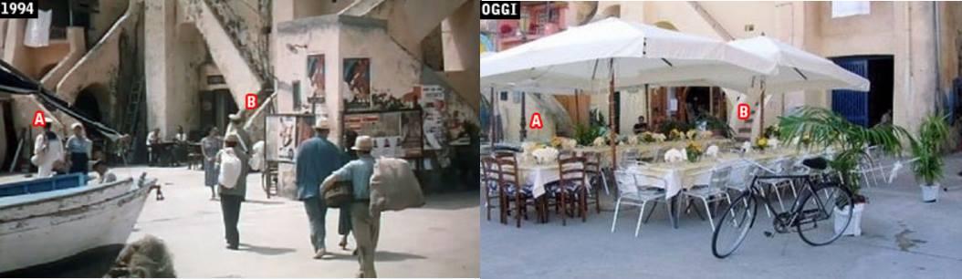 Locanda di Beatrice ieri e oggi. Fonte: davinotti.com