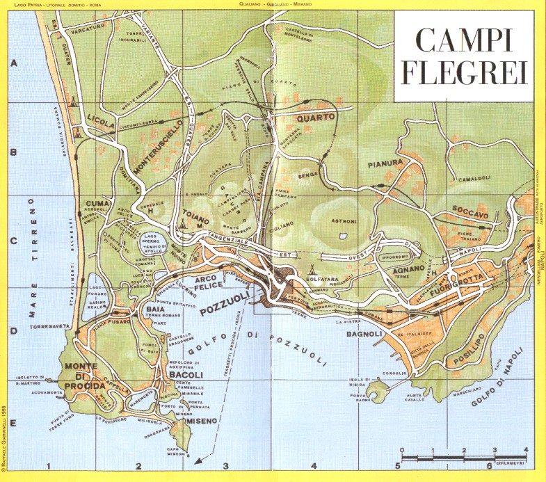 Mappa dei Campi Flegrei