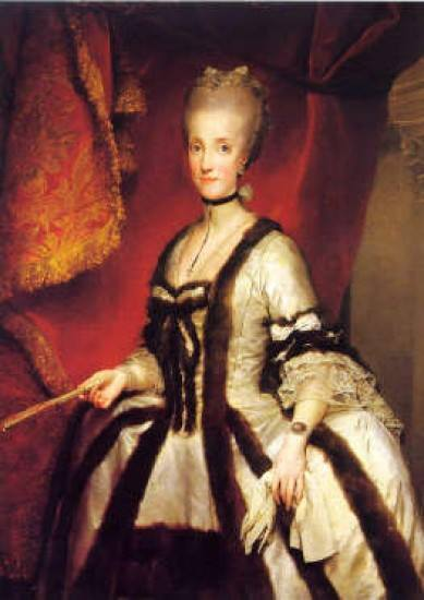 Maria Carolina D'Asburgo Lorena, Regina di Napoli. Fonte: fonte: artesuarte.it