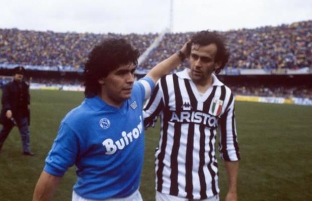 Maradona e Platini Fonte: identitàinsorgenti.com