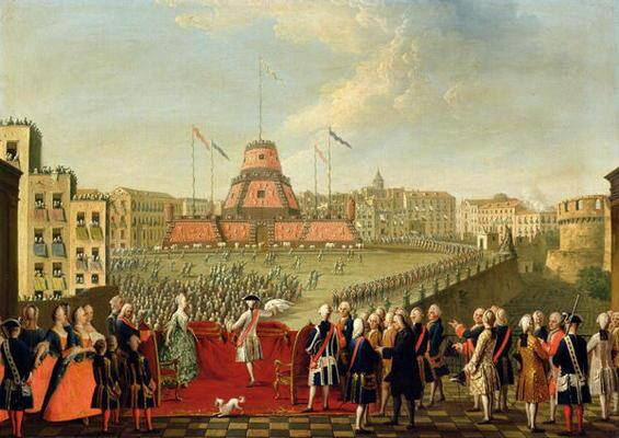 Festeggiamenti per il matrimonio reale. Fonte: baroque.it