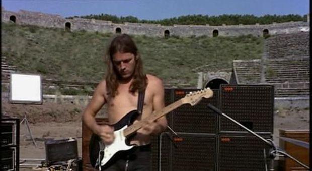 David Gilmour - Pompei 1971 Fonte: ilvaporetto.com