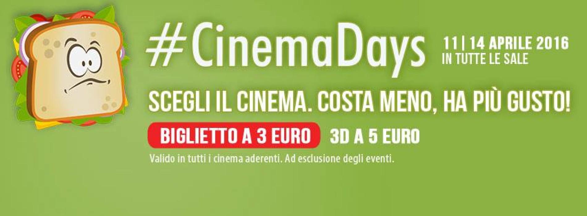 #CinemaDays2016: al cinema con soli 3 euro! Ecco le sale aderenti a Napoli e provincia.