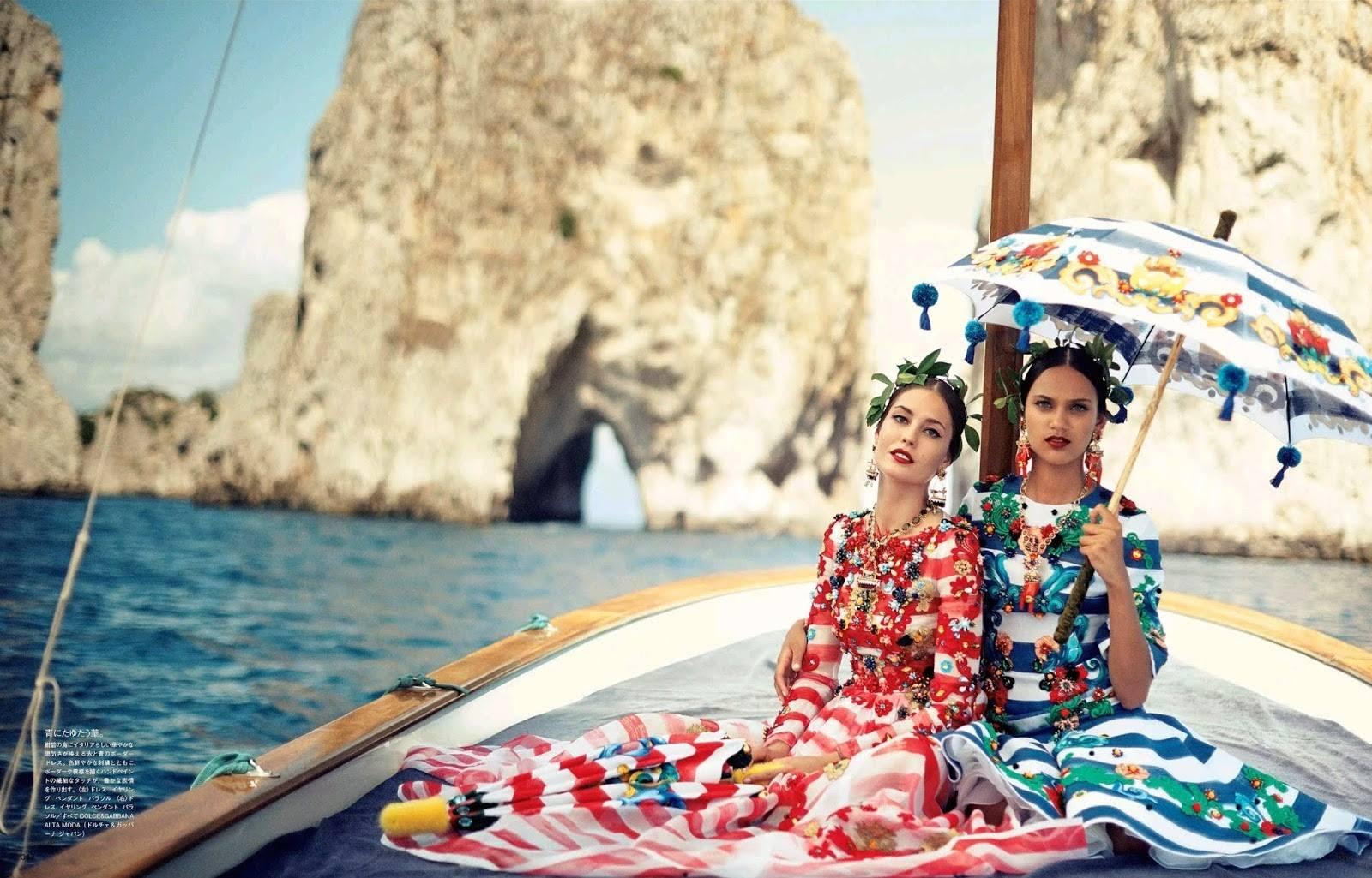 Dal servizio fotografico Dolce e Gabbana a Capri. Fonte: Vogue japan 2014 Capri country-magazines.blogspot.com
