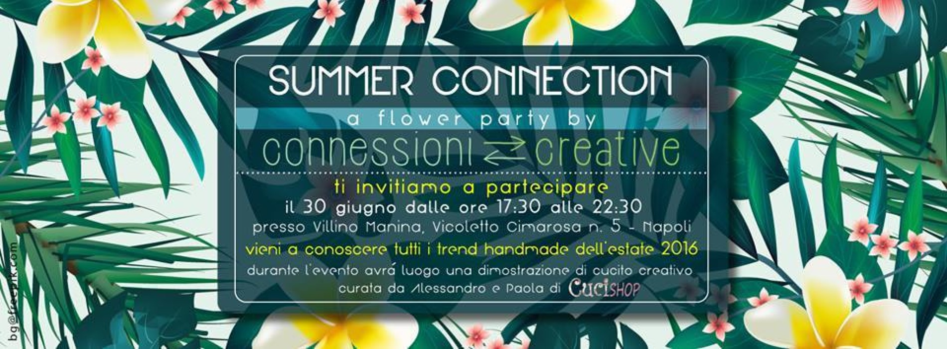 Summer Connection: A flower party by Connessioni Creative