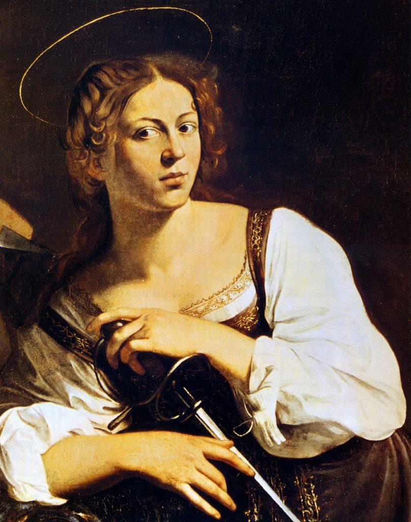 Santa Caterina D'Alessandria (Caravaggio, particolare). Fonte: Wikimedia