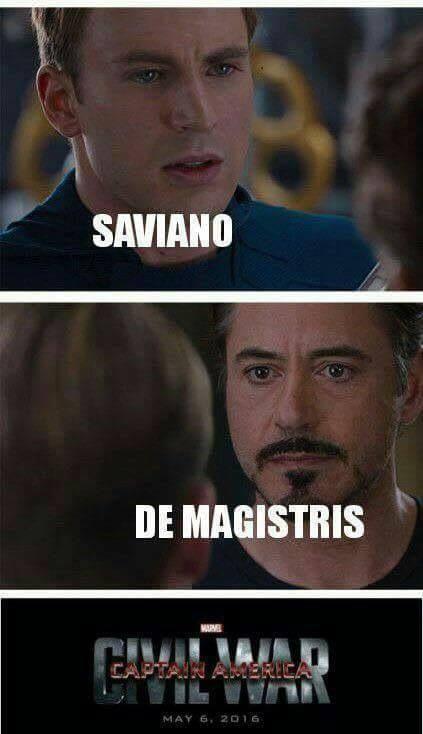 Saviano/De Magistris Civil War