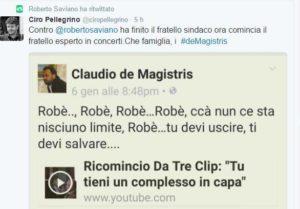 Tweet del fratello del Sindaco De Magistris