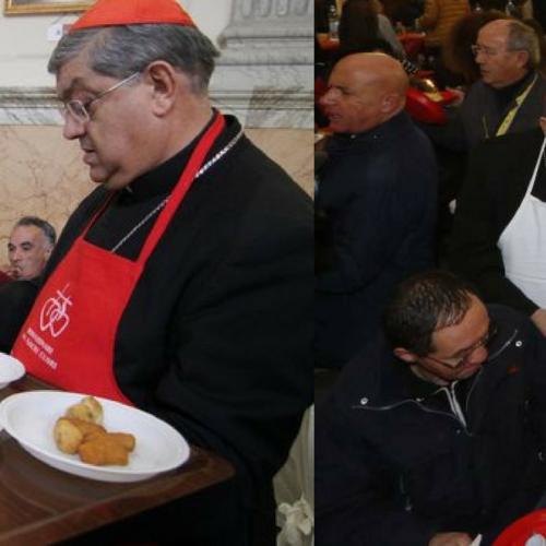Il pranzo dei poveri al Duomo di Napoli