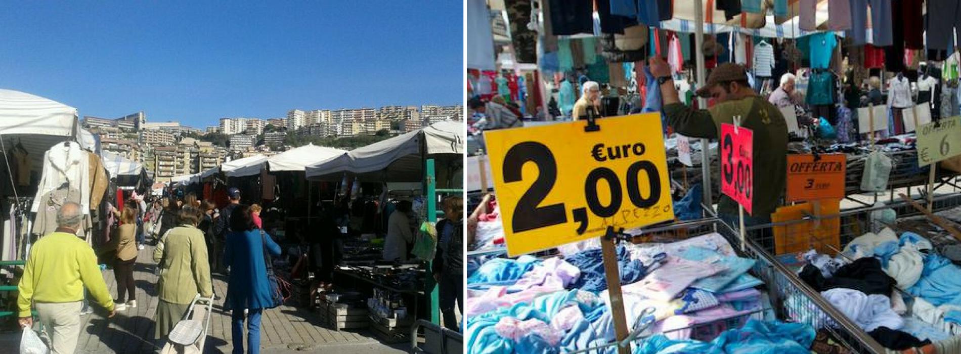 Il mercato rionale a Fuorigrotta